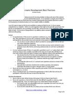 Questionnaire Development Best Practices