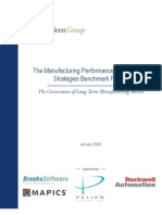 Manuf Performance Mgt Strategy