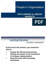 Hr Planning & Labour Markets