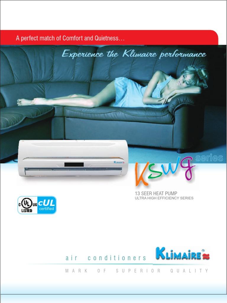 KSWG BRUCHURE Air Conditioning