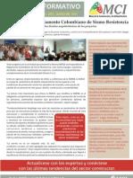 BOLETÍN INFORMATIVO No. 005 / junio de 2011 / Mesa de la Construcción y la Infraestructura