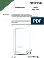 Potterton Profile 40eL-80eL Install Guide