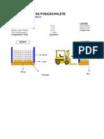 Dimensionamento de Porta-Páletes