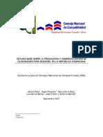 Estudio de Base de Produccion y Comercio de Oleaginosas Para Biodiesel