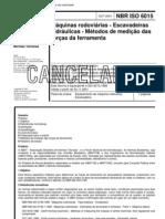 NBR 6015 - Maquinas Rodoviarias - Escavadeiras Hidraulicas - Metodos de Medicao Das Forcas Da Ferramenta