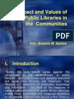 Impact & Values of Public Libraries