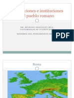 Concepciones e Instituciones Del Pueblo Romano