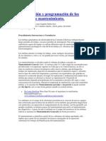 Planificación y programación de los trabajos de mantenimiento