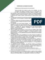 Reglamento Junta Electoral  Partido de la Ciudad en Acciòn 2011