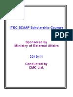 Itec Scaap Courses 2010-11