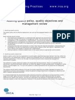 IRCA250k APG Auditing Quality Policy