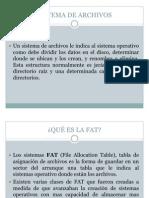 FAT y NTFS