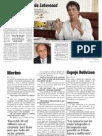 Entrevista Beatriz Merino en Revista Caretas