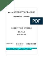 Sample Test BSTech