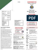 Newsletter 26 June 2011