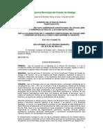 Ley Organica Municipal Del Estado de Hidalgo
