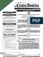 decreto 4-2011 reformas legislativo