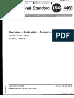 ISO 4468-1982 齿轮滚刀-单头-精度要求