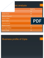 Cipla Business Analysis