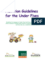 Nutrition Guidelines Under5s