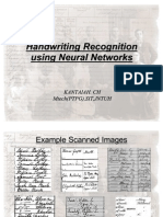Handwriting Recognition Using Neural Networks