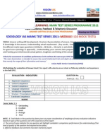 Sociology Interactive Ias Main Test Series Programme 2011 Module i3