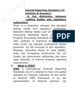 A Note on Financial Reporting Standards