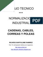 DIBUJO TÉCNICO. CABLES, CADENAS, CORREAS Y POLEAS