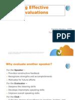 Delivering Effective Speech Evaluations