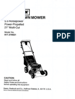 Sears Mower 917.378521 User Manual