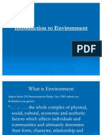 Lecture 1 Introduction to Environment