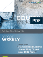 Stock Market Reports for the Week (27th June - 1st July '11)