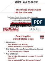 Searching The United States Code with Solr/Lucene