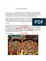 Panguni Uthiram Festival the Celestial Marriage Day