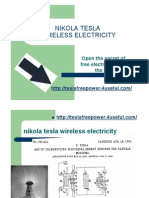 Nikola Tesla Wireless Electricity