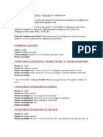 Comandos Configuracion de Router
