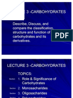 Lecture 3 - Carbohydrates