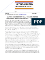 Press Release - Latinos United for Marriage Equality