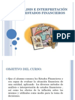 ANALISIS E INTERPRETACIÓN DE ESTADOS FINANCIEROS