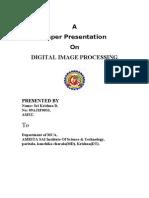 Digital Image Processing Full Report