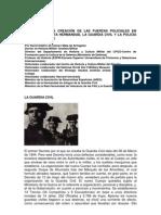 Creación de las fuerzas policiales en España II