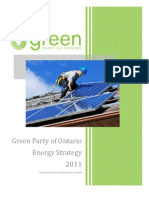 Energy - Green Party Five Point Plan for Ontario