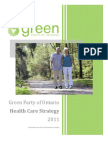 Health - Green Party Five Point Plan for Ontario