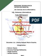 Sistemas de Archivos y Directorios