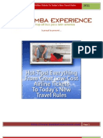 Hot Tips! Low Cost Travel Tickets and Todays New Travel Rules - BAMBA Experience