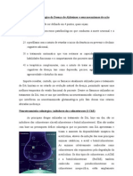 Tratamento farmacológico da Doença de Alzheimer e seus mecanismos de ação