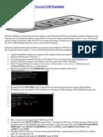 Cara Install Windows 7 Lewat USB Flashdisk