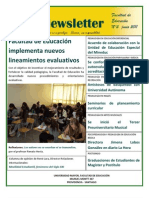 Facultad de Educación, Universidad Mayor Newsletter 2