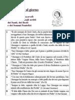 San Giuseppe - Un pensiero al giorno - Stampa 4,1 - 2,3