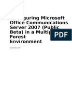 Deploying in a Multiple Forest Environment